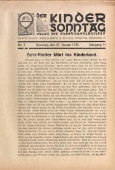 Der Kindersonntag, 1935, Jg. 11, Nr. 4