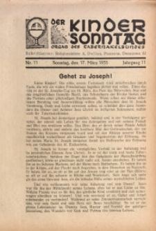 Der Kindersonntag, 1935, Jg. 11, Nr. 11