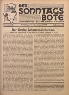 Der Sonntagsbote. Wochenschrift für das Bistum Katowice, 1936, Jg. 12, Nr. 35