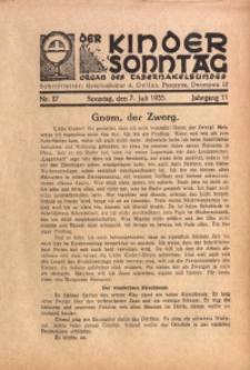 Der Kindersonntag, 1935, Jg. 11, Nr. 27