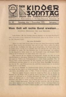 Der Kindersonntag, 1935, Jg. 11, Nr. 48