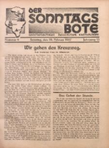 Der Sonntagsbote. Wochenschrift deutscher Katholiken, 1937, Jg. 13, Nr. 9