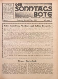 Der Sonntagsbote. Wochenschrift deutscher Katholiken, 1937, Jg. 13, Nr. 13