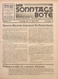 Der Sonntagsbote. Wochenschrift deutscher Katholiken, 1937, Jg. 13, Nr. 24