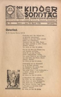 Der Kindersonntag, 1936, Jg. 12, Nr. 15