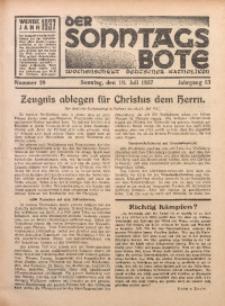 Der Sonntagsbote. Wochenschrift deutscher Katholiken, 1937, Jg. 13, Nr. 29