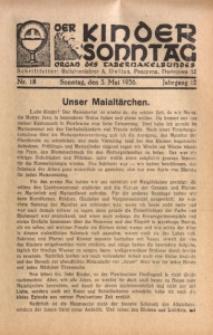 Der Kindersonntag, 1936, Jg. 12, Nr. 18