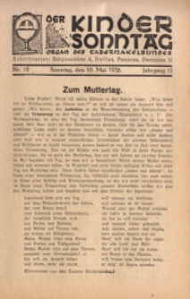 Der Kindersonntag, 1936, Jg. 12, Nr. 19