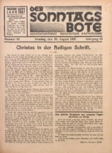 Der Sonntagsbote. Wochenschrift deutscher Katholiken, 1937, Jg. 13, Nr. 35