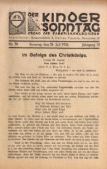 Der Kindersonntag, 1936, Jg. 12, Nr. 30