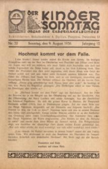 Der Kindersonntag, 1936, Jg. 12, Nr. 32