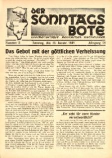 Der Sonntagsbote. Wochenschrift deutscher Katholiken, 1938, Jg. 14, Nr. 3