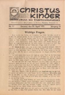 Christus Kinder, 1937, Jg. 13, Nr. 17