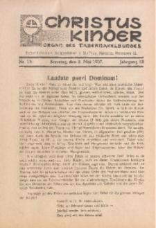 Christus Kinder, 1937, Jg. 13, Nr. 18