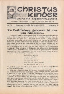 Christus Kinder, 1937, Jg. 13, Nr. 52