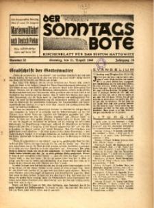 Der Sonntagsbote. Kirchenblatt für das Bistum Kattowitz, 1940, Jg. 16, Nr. 32