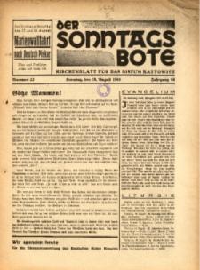 Der Sonntagsbote. Kirchenblatt für das Bistum Kattowitz, 1940, Jg. 16, Nr. 33