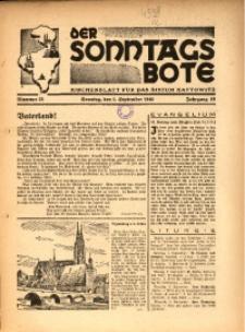 Der Sonntagsbote. Kirchenblatt für das Bistum Kattowitz, 1940, Jg. 16, Nr. 35