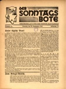 Der Sonntagsbote. Kirchenblatt für das Bistum Kattowitz, 1940, Jg. 16, Nr. 39