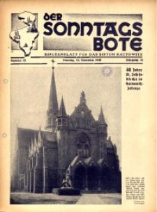 Der Sonntagsbote. Kirchenblatt für das Bistum Kattowitz, 1940, Jg. 16, Nr. 45