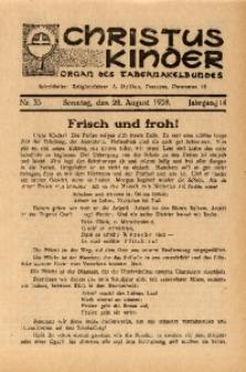 Christus Kinder, 1938, Jg. 14, Nr. 35