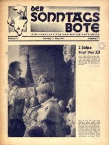 Der Sonntagsbote. Kirchenblatt für das Bistum Kattowitz, 1941, Jg. 17, Nr. 9