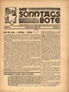 Der Sonntagsbote. Kirchenblatt für das Bistum Kattowitz, 1941, Jg. 17, Nr. 10