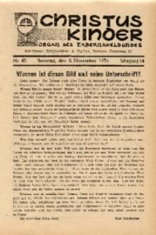 Christus Kinder, 1938, Jg. 14, Nr. 45