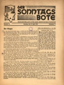 Der Sonntagsbote. Kirchenblatt für das Bistum Kattowitz, 1941, Jg. 17, Nr. 15