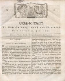 Schlesische Blätter für Unterhaltung, Kunst und Literatur, 1827, Nro. 3