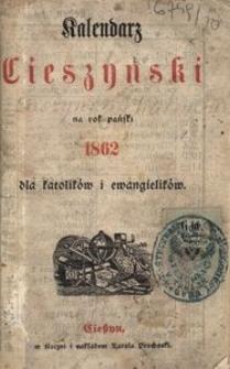 Kalendarz Cieszyński na Rok 1862 dla Katolików i Ewangelików