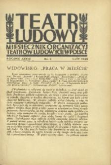 Teatr Ludowy, 1936, R. 28, nr 2