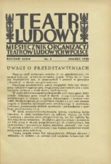 Teatr Ludowy, 1936, R. 28, nr 3