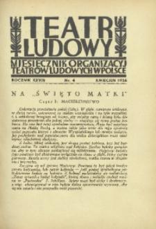 Teatr Ludowy, 1936, R. 28, nr 4