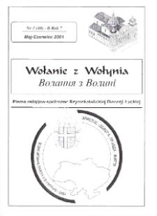 Wołanie z Wołynia : pismo religijno-społeczne Rzymskokatolickiej Diecezji Łuckiej (B). R. 7, nr 3 (40).