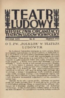 Teatr Ludowy, 1934, R. 26, nr 8
