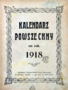 Kalendarz Powszechny na rok 1918