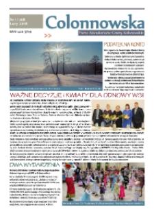 Colonnowska : pismo mieszkańców Gminy Kolonowskie 2018, nr 1 (208).
