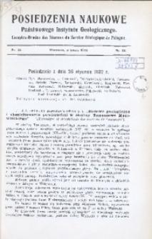 Posiedzenia Naukowe Państwowego Instytutu Geologicznego, 1932, nr 32