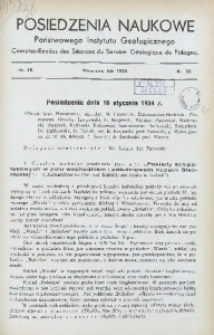 Posiedzenia Naukowe Państwowego Instytutu Geologicznego, 1934, nr 38