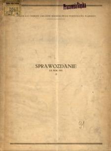 Sprawozdanie za rok 1927