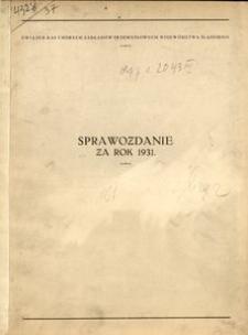Sprawozdanie za rok 1931
