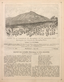 Das Riesengebirge in Wort und Bild, 1885, Jg. 5, H. 1/2