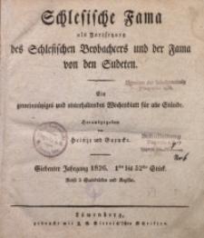Schlesische Fama, 1826, Jg. 7, Inhalts-Anzeiger