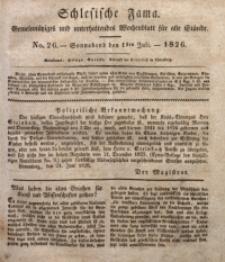 Schlesische Fama, 1826, Jg. 7, No. 26