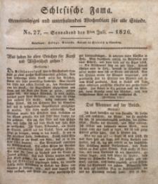 Schlesische Fama, 1826, Jg. 7, No. 27