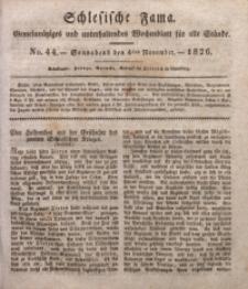 Schlesische Fama, 1826, Jg. 7, No. 44