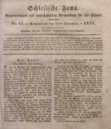 Schlesische Fama, 1826, Jg. 7, No. 45