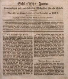Schlesische Fama, 1826, Jg. 7, No. 48