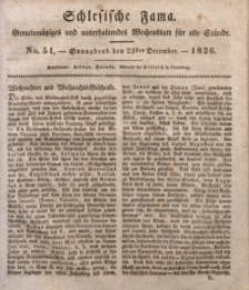 Schlesische Fama, 1826, Jg. 7, No. 51